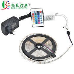 BO светодиодный ENGYE 5 м 10 м SMD светодиодные полосы 2835 12 в 60 светодиодный s/M не водонепроницаемый гибкий RGB лента + ИК пульт дистанционного управл...