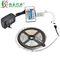 BOLEDENGYE 5M 10M LED Strip SMD 2835 12V 60 leds/m Non Waterproof Flexible RGB Tape Ribbon+IR Remote Controller+12V 2A 3A Power