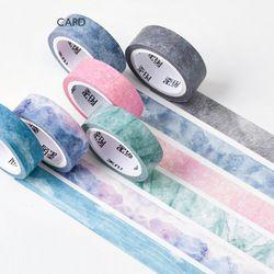 6 pcs/Lot Alam warna washi tape set langit Biru Ungu bintang Merah Muda sakura Deco kertas masking kaset Alat Tulis perlengkapan Sekolah 6635