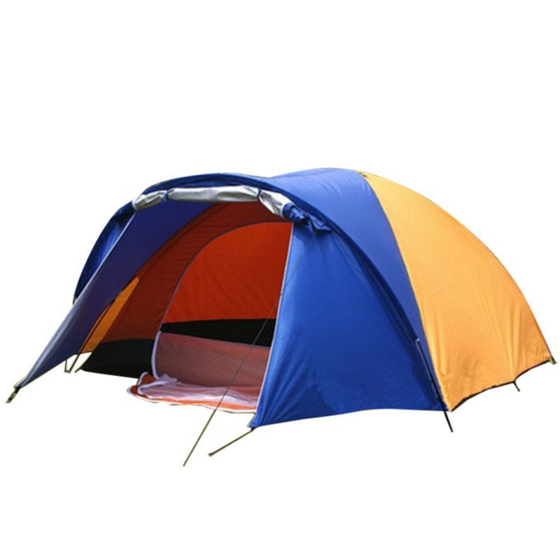 3-4 Person Large Double Layer Rainproof Tent for Outdoor Camping Hiking Hunting Fishing Travel Picnic Tourist 320x210x145cm