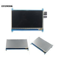 7 inch for Raspberry pi touch screen 1024*600 7 inch Capacitive Touch Screen LCD, HDMI interfac supports various systems