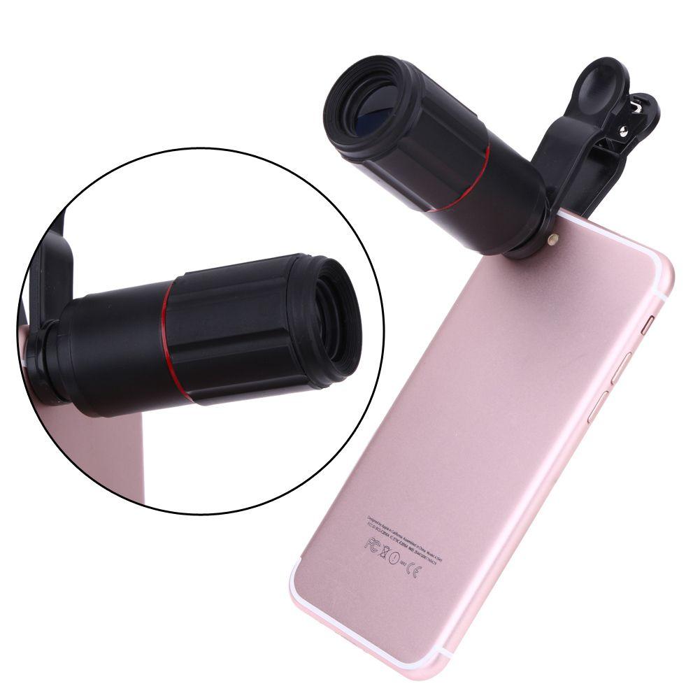 ALLOET Universel 8X Zoom Téléobjectif Caméra Lentilles Mobile Téléphone Monoculaire Télescope Lentille Clip Externe Pour iPhone Samsung Xiaomi