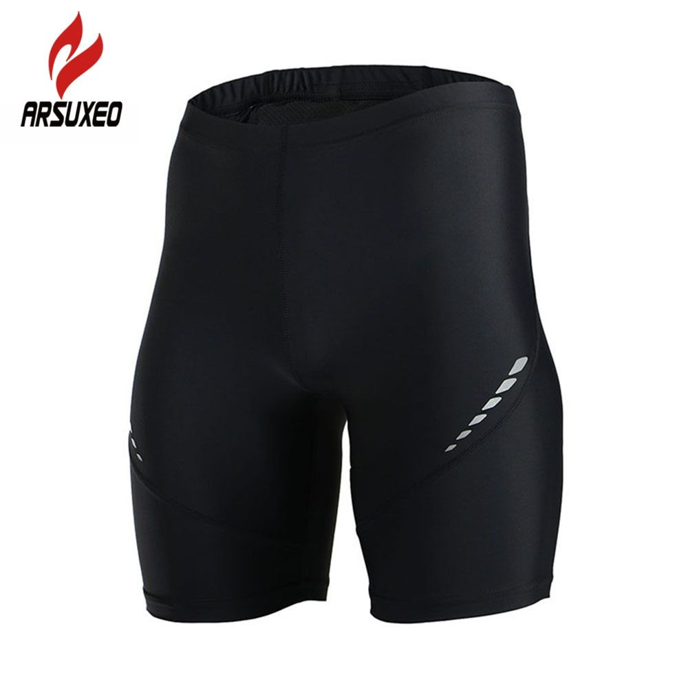 ARSUXEO Men Outdoor Sports Running Shorts Compression Tights Gym Bodybuilding Fitness Basketball Training Jogging Base Layers