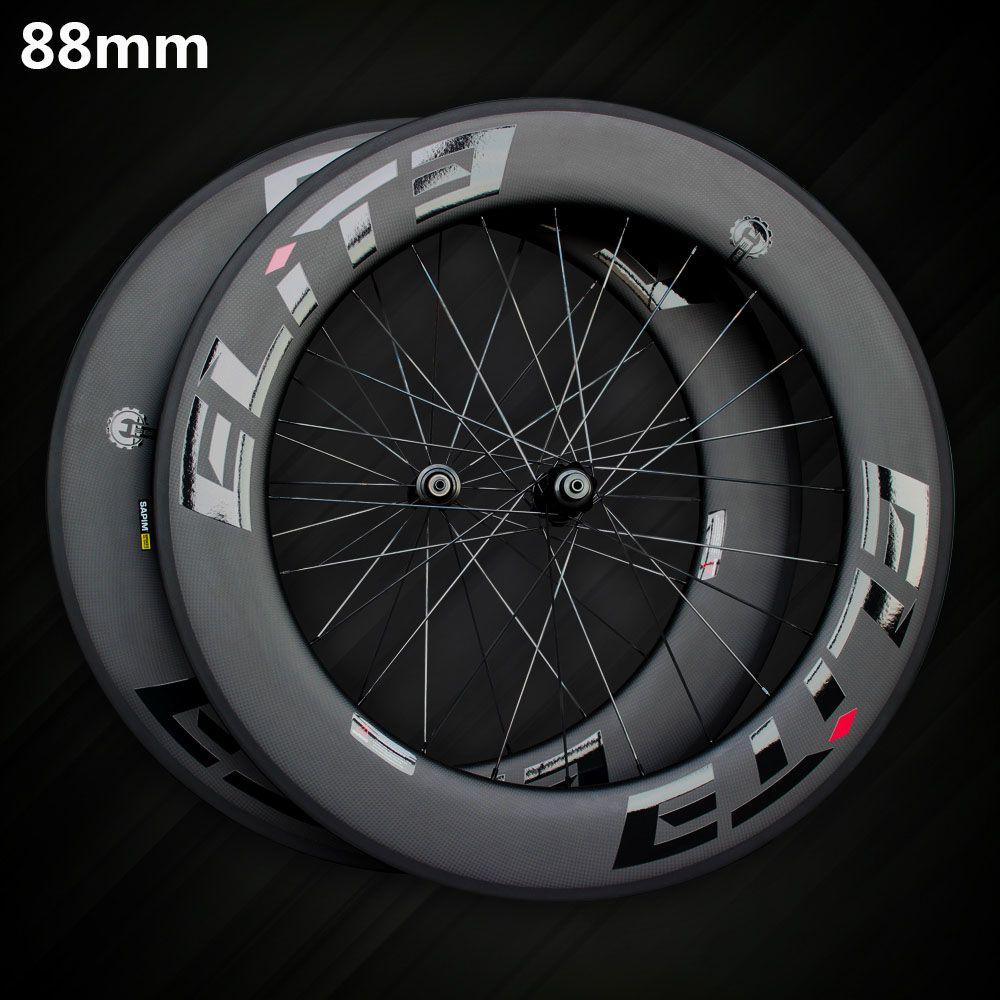 Elite SLR Carbon Rennrad Rad 700c Felge Tubular Klammer Tubeless Mit Taiwan Gerade Pull Niedrigen Widerstand Keramik Hub