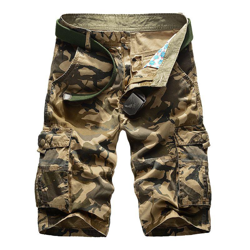 New Cargo Shorts Men Top <font><b>Design</b></font> Camouflage Military Army Khaki Shorts Homme Summer Outwear Hip Hop Casual Cargo Camo Men Shorts