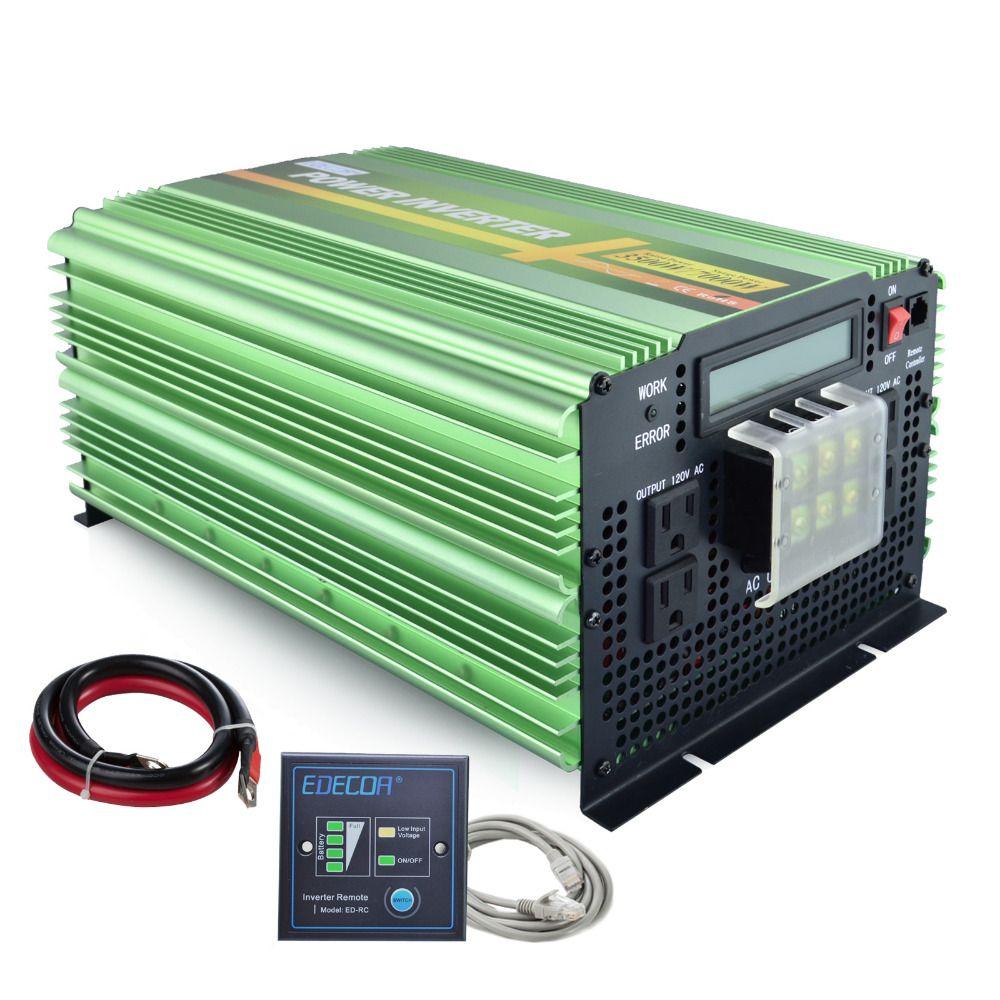 12 V 110 V 120 V 3500 Watt/7000 Watt peak reinen sinus-wechselrichter 60Hz solar inverter ac zu dc wechselrichter mit fernbedienung