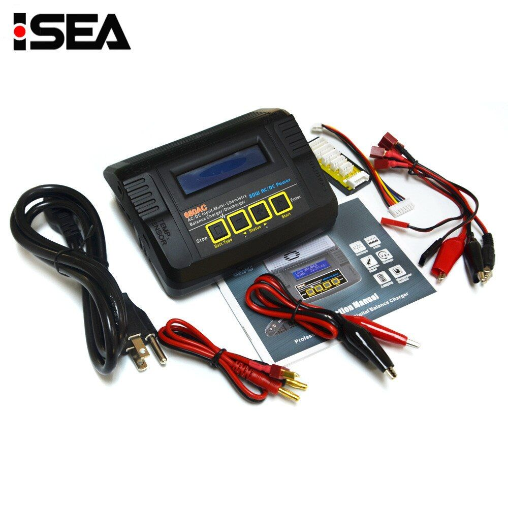 HTRC 680AC 80W 6A AC/DC Dual Power RC Battery Balance Charger Discharger For 1-6s LiPo/LiFe/Lilon Battery Charging