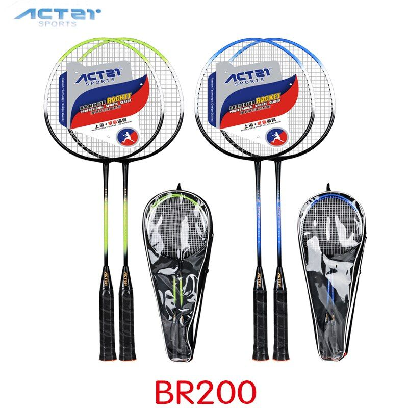 ACTEI BR200 Powerful badminton racket strong ultra light stiff high modulus ferroalloy badminton rackets General purpose racquet