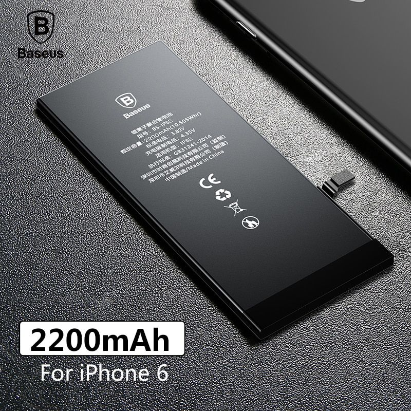 Baseus Original Phone Battery For iPhone 6 2200mAh High Capacity Replacement Batteries For iPhone 6 with Free Repair Tools