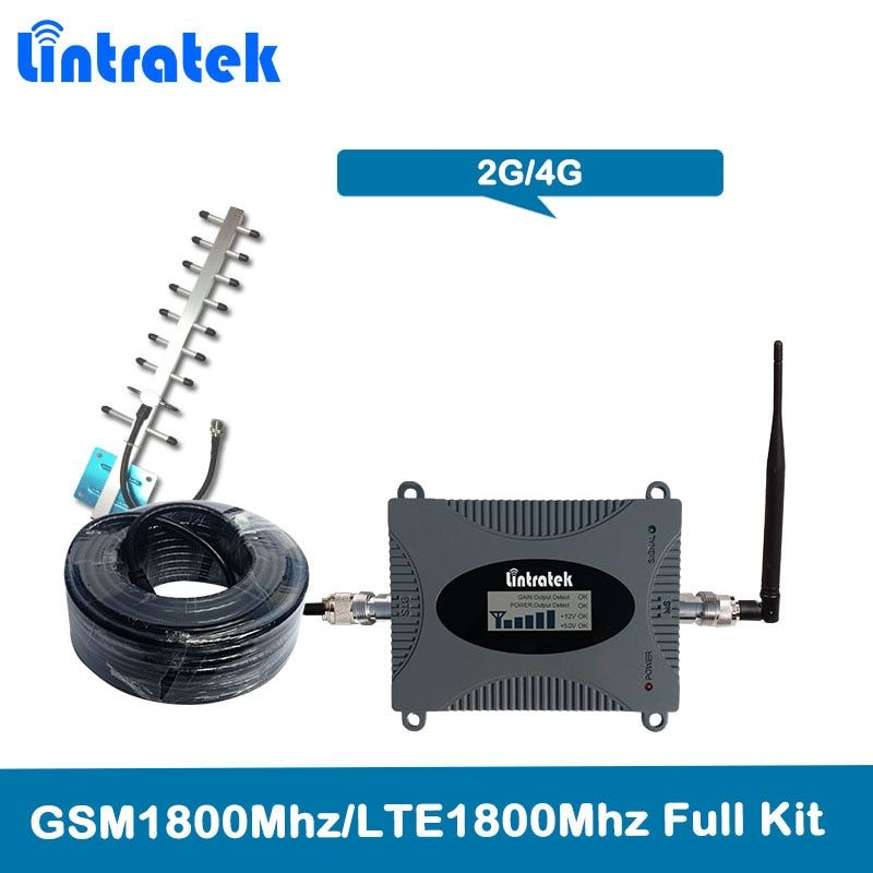 Lintratek 4G LTE 1800 Mhz signal Repeater Band 3 GSM Cellular Amplifier GSM 1800 Mobile Phone Signal Booster 2G DCS 1800MHz Kit