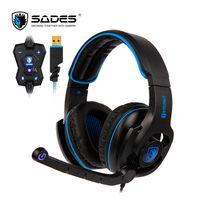 SADES HAMMER Gaming Headset auriculares USB Virtual 7,1 Surround Sound micrófono giratorio controlador en línea