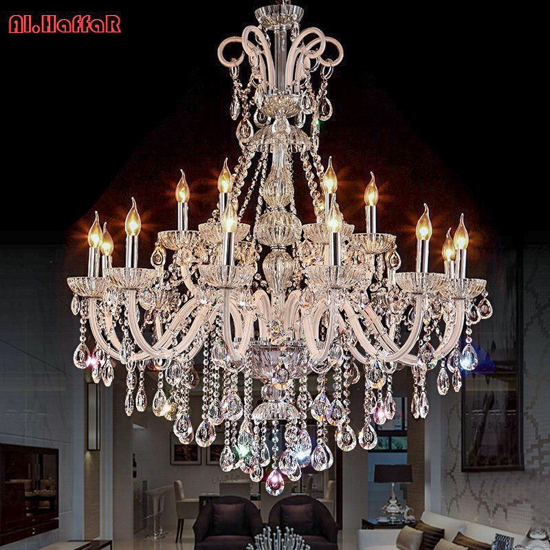 Chandelier Modern crystal chandeliers Livingroom Bedroom indoor lamp K9 crystal lustre de teto ceiling chandelier LED lights