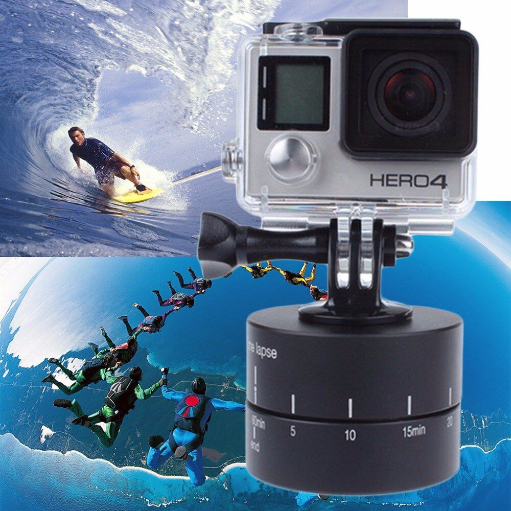 Промежуток времени 360 градусов Автоповорот Камера штатива базы 360 TL timelapse для xiaoyi для GoPro Камера SLR для мобильный телефон