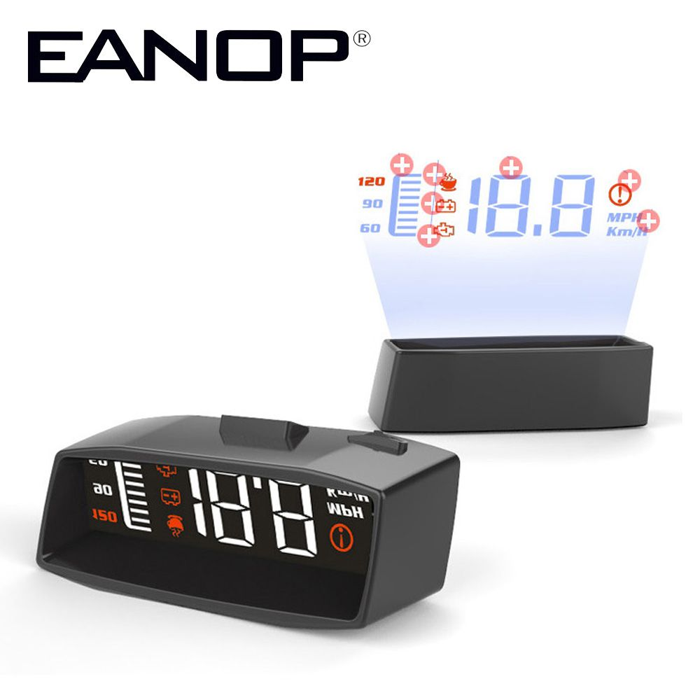 EANOP i-Smart HUD Head up display  Car speed projector  OBD2 Scanner Windshield projector Oil Consumption Display