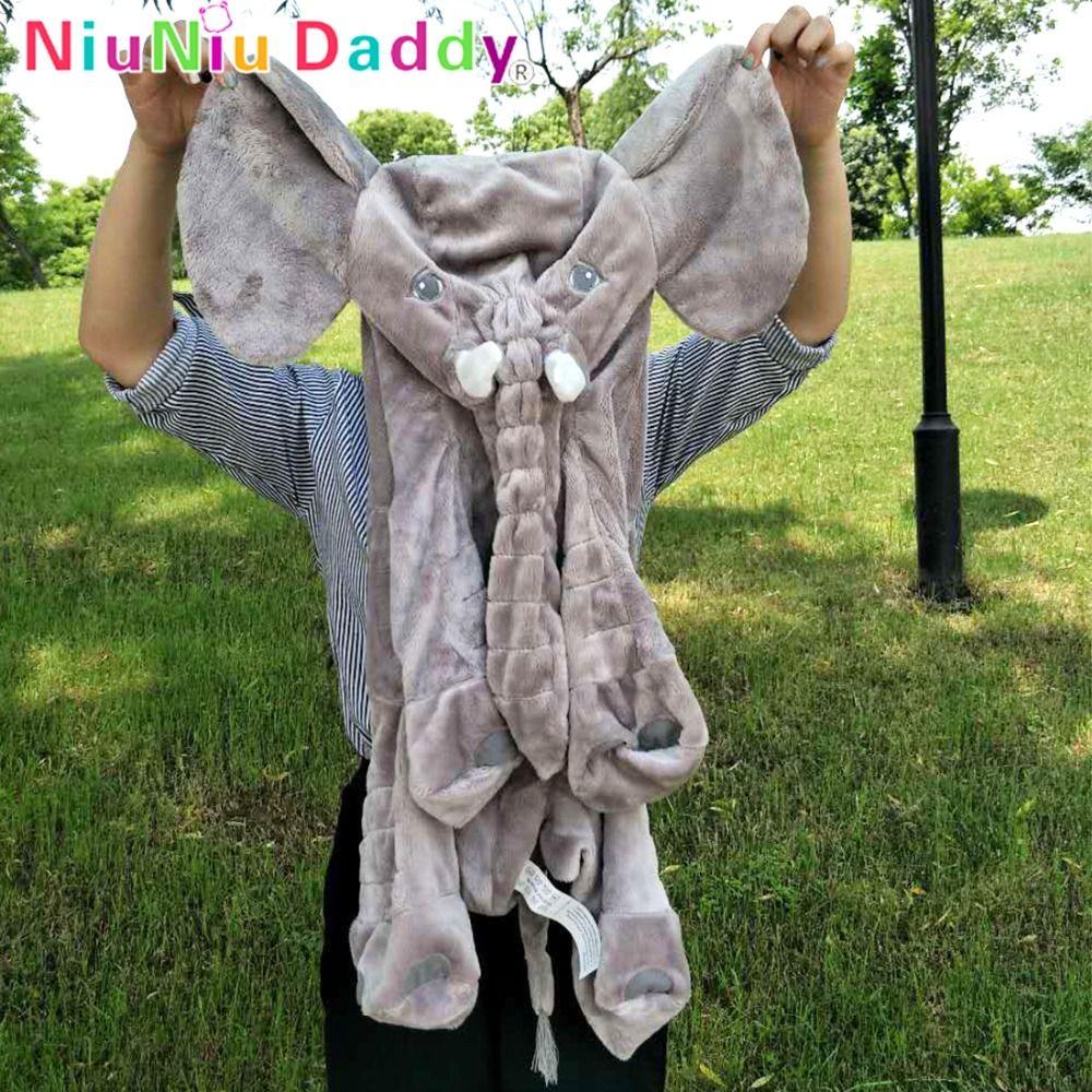 Niuniu Papa 60 cm Éléphant En Peluche Jouet Peau Géant Éléphant Poupées Animal Peau Douce Oreillers Bébé de Couchage Oreiller Cadeau d'anniversaire