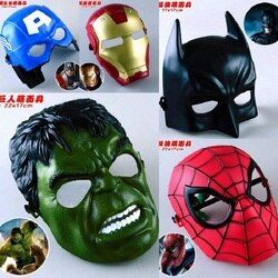 5 Buah/Banyak Film Marvel Masker Avengers Hulk Captain America Batman Spiderman Ironman Pesta Topeng Anak Hadiah Action Figure Mainan # E