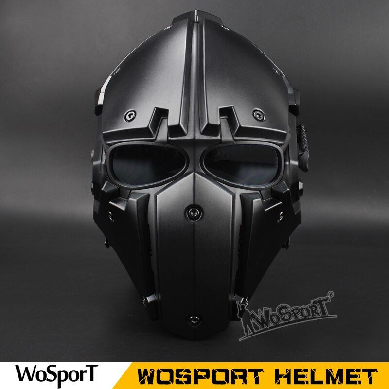 WoSpor Hot Tactical OBSIDIAN GREEN GOBL TERMINATOR Helmet & Mask goggle Tactical Safety with Defogging Built-in Fan
