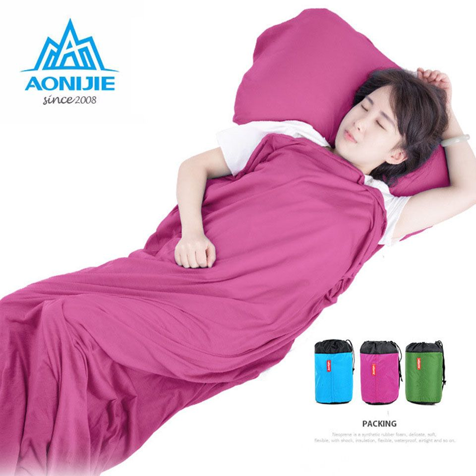 AONIJIE Super light cotton sleeping bag bladder outdoor camping hiking camping portable folding Hiking Camping Tent Blanket