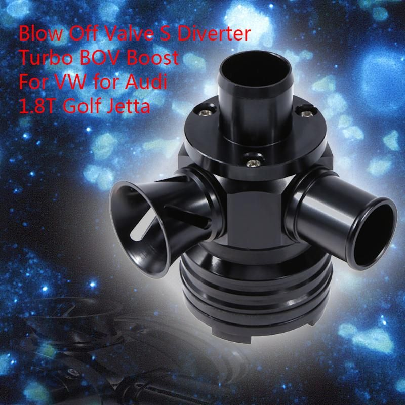 1Pcs Blow Off Valve S Diverter Turbo BOV Boost For VW for Audi 1.8T Golf Jetta Auto Car Accessory Blow Off Valve Car Styling