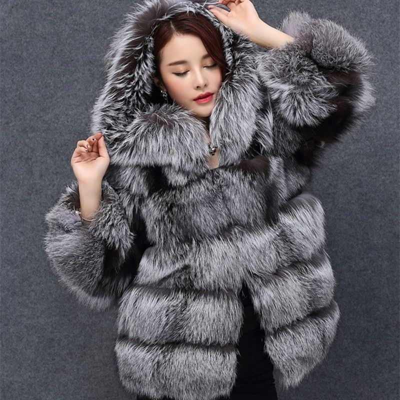 Tatyana Furclub Real Fur Coat Natrual Fox Fur Jacket With Hood Parka Hoodie Fur Overcoat Winter Warm Real Full Pelt Fur Coat