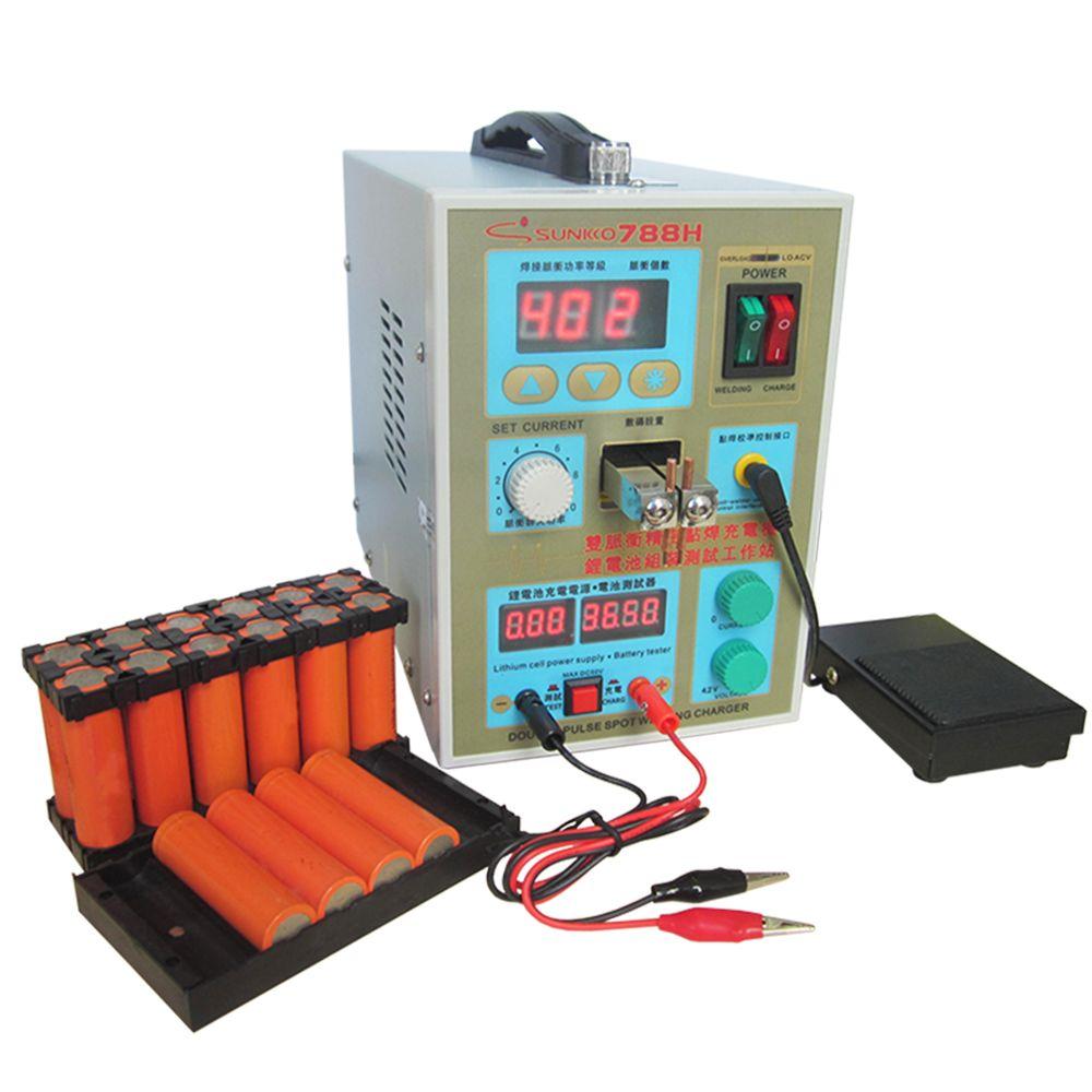 788 H spot schweißen maschine LED beleuchtung doppel präzision pulse spot schweißen laden eine maschine pulse spot schweißen maschine EU UNS