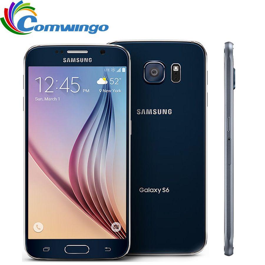 Original Entsperrt Samsung Galaxy S6 3 gb RAM 32 gb ROM Handy Octa Core 16MP GPS NFC Renoviert S 6 Smartphone