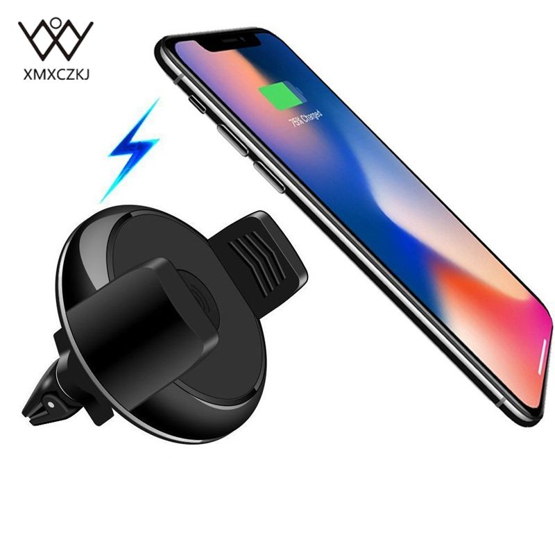 New Qi Wireless Charger Car Mount Holder for iPhone 8 Samsung Galaxy S6 S7 S8 Wireless Charging Car Air Mount Holder Phone Stand