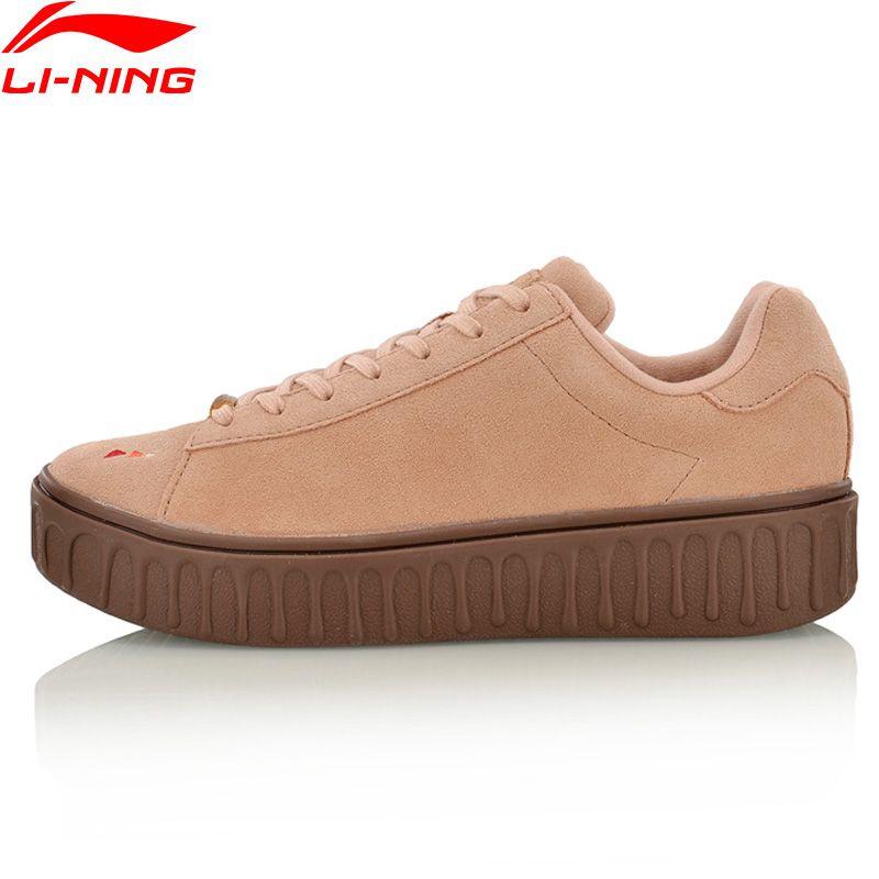 Li-Ning Women Walking Shoes Stylish Sneakers Breathable Comfort Classic LiNing Sports Shoes AGLM106 YXB100