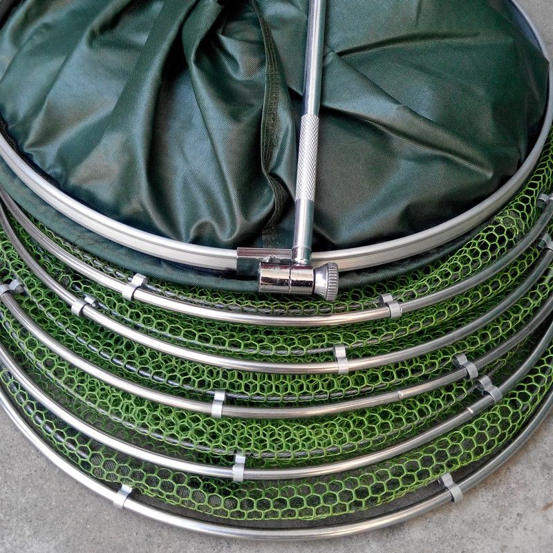 High quality Fishing tackle real Aluminum ring edge quick-drying shrimp net fish 2M glue shrimp cage fishing net B303