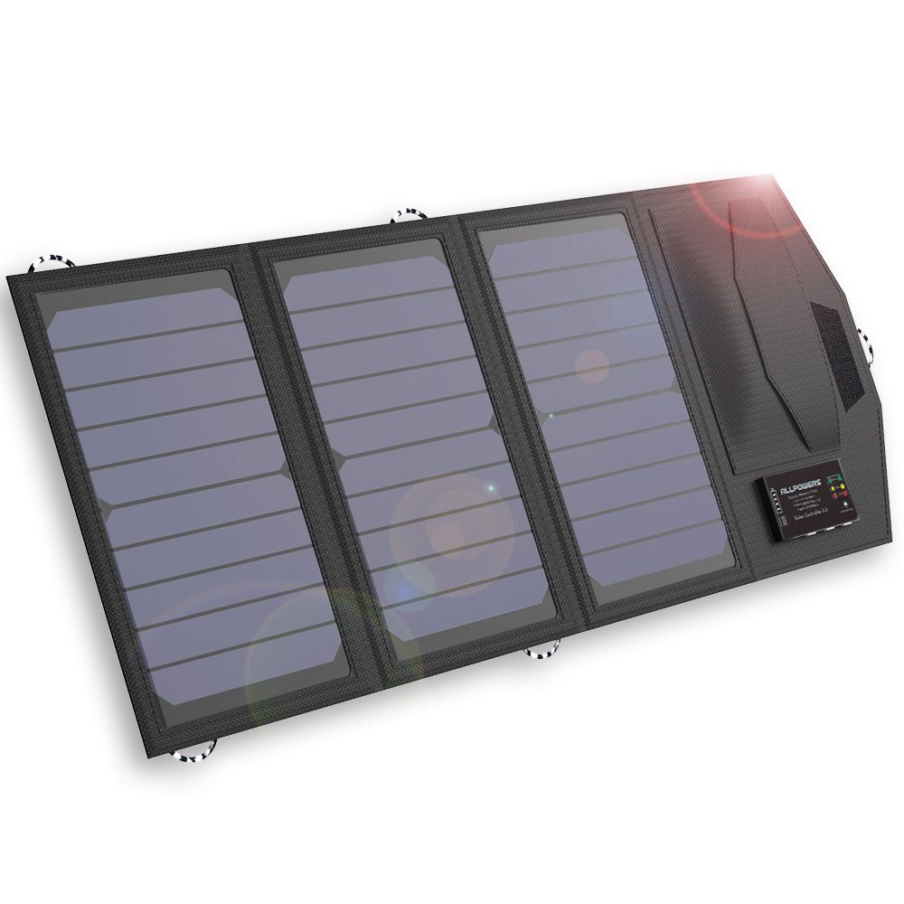 ALLPOWERS Solar Power Bank 15W Solar Externla Battery Charger for iPhone 4s 5 5s SE 6 6s iPhone 7 8 10 X Samsung LG HTC Sony.