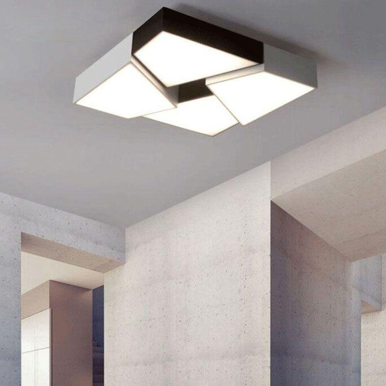 Rectangle acrylic LED Ceiling Lamp Dimmable LED Lamp Modern Ceiling Lights Home Lighting Black/White Led Ceiling Lamp