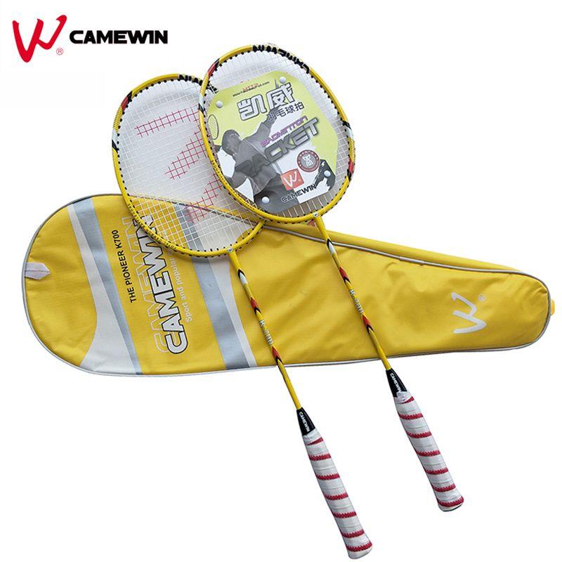 1 Para Hohe Qualität Carbon Badmintonschläger CAMEWIN Marke Professionelle Badminton Schläger Mit Tasche Gelb Schwarz Rot Grau