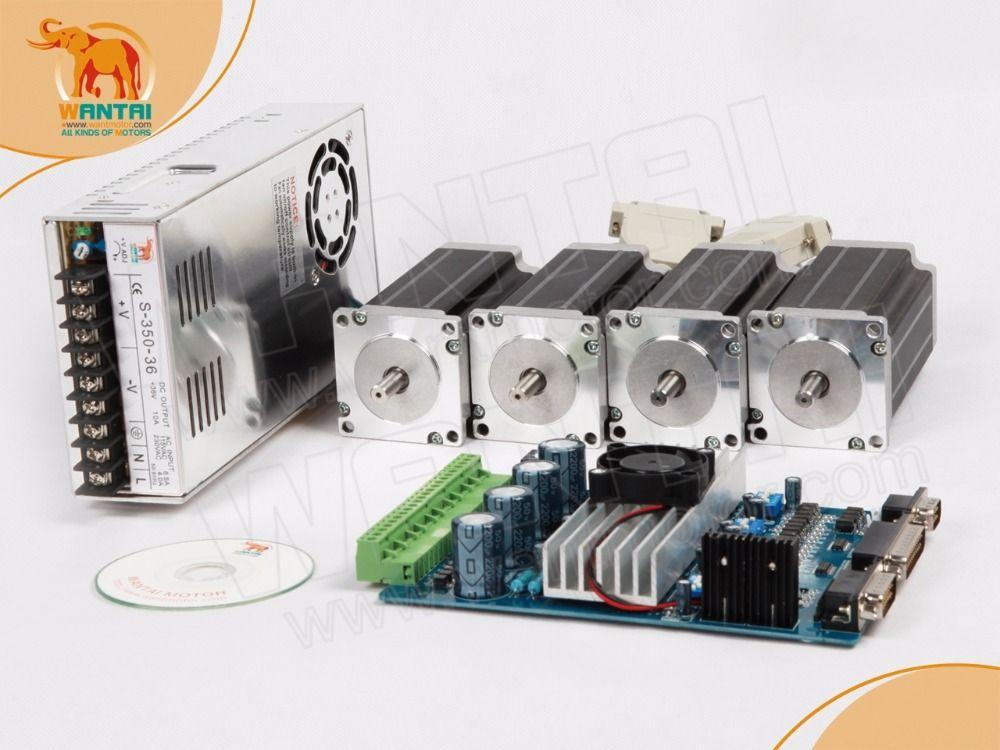 High & Leistungsstarke Nema 23 Schrittmotor unzen-in, 1.0A + 4 Achsen CNC und Netzteil Kit freies schiff mit MACH3 sofrware