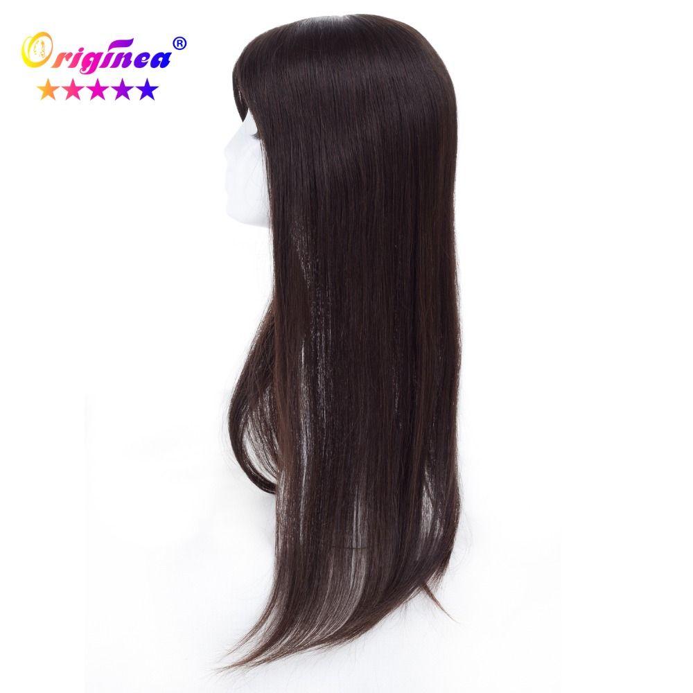 Originea frauen Toupet Net Basis Größe 13*15 cm Haar Länge 20 zoll 50 cm 100% Menschliches Haar toupet Ersatz System Remy Haar