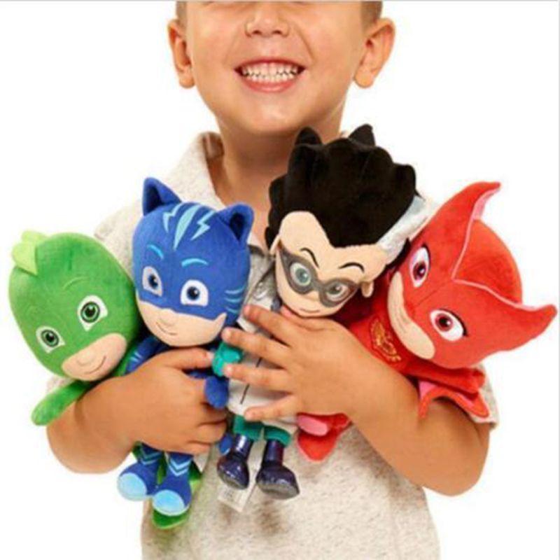 20-25cm Pj Cartoon Masked Catboy Owlette Gekko Cloak Characters Pajamas Action Toy Figure Stuffed Plush Dolls Toys For Children