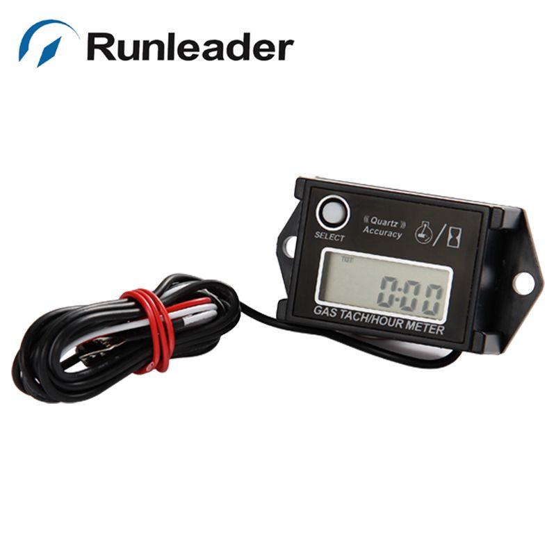 Runleader Tach Hour Meter Tachometer For Gas Engine 2/4 Stroke generaor Motorcycle ATV UTV marine chain saws snowmobile jet Boat