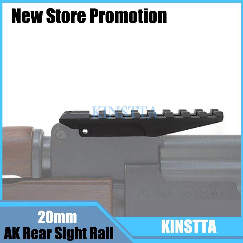 Tactical Picatinny Rear Weaver 20mm Rail Mount For AK Series Airsoft Electric Gun AEG AK 47 Sight Rail Hunting Scope Mount