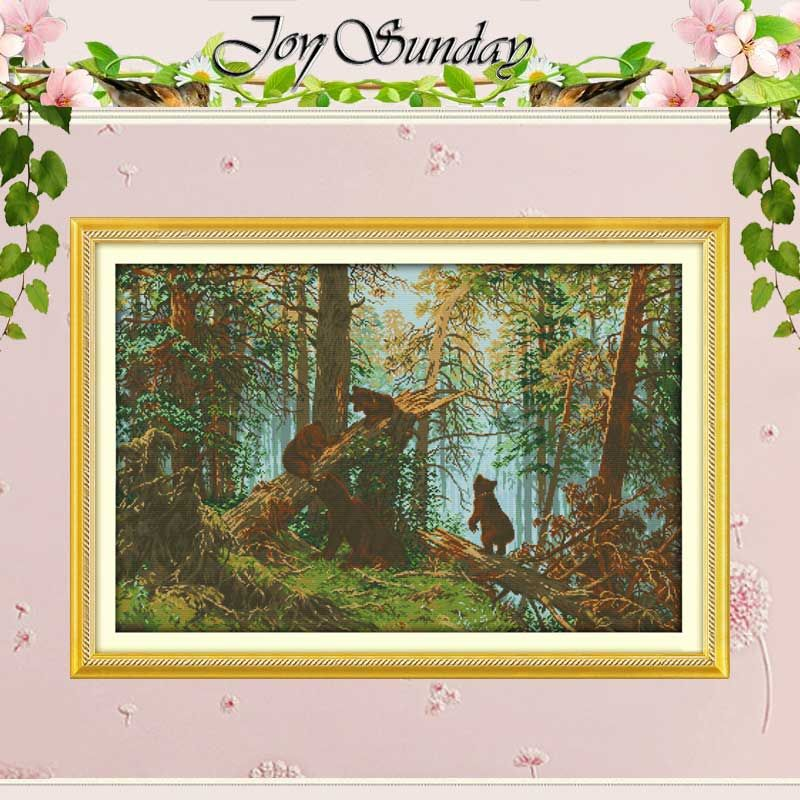 The Pine Forest Morning Counted Cross Stitch Diy 11CT 14CT Cross Stitch Set wholesale Cross-Stitch Kit Embroidery Needlework