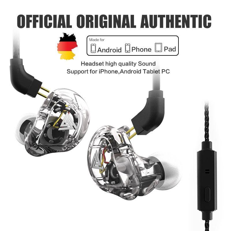 Oeiginal QKZ VK1 ZS6 ZS10 4 Dynamic Hybrid In Ear Earphone HIFI DJ Monito Running Sport Earphone 5 Drive Unit Headset Earbud