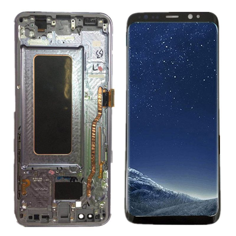 Super AMOLED for SAMSUNG S8 LCD Display Touch Screen Digitizer Replacement for SAMSUNG GALAXY S8 Plus LCD With Frame