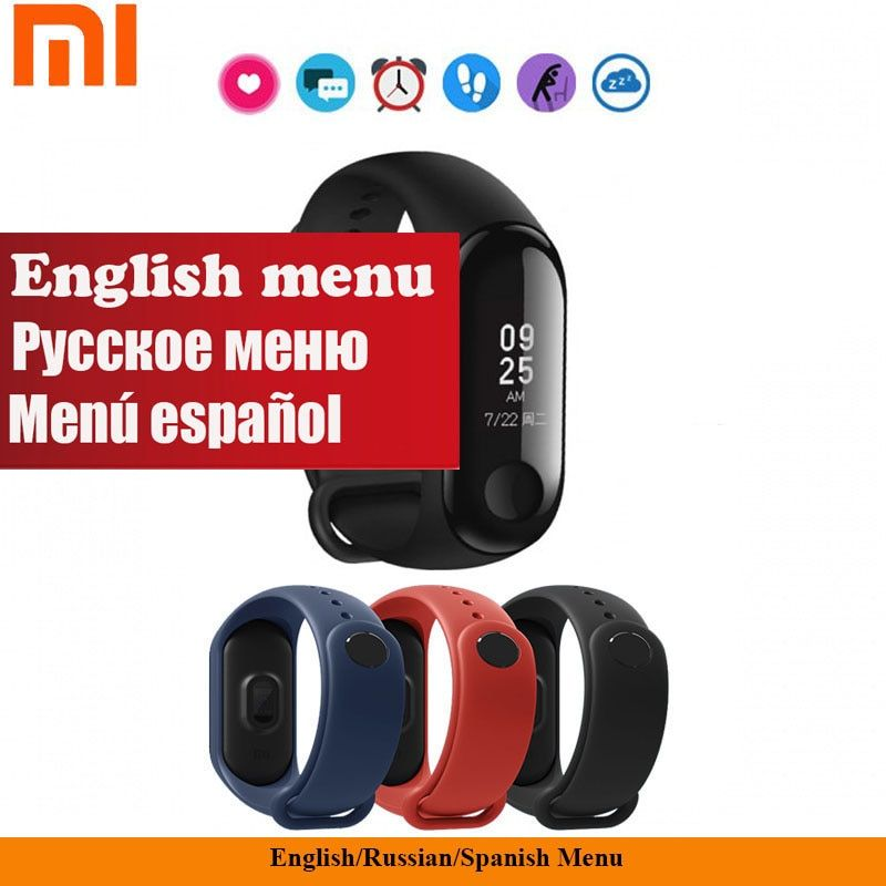 New Original Xiaomi Mi Band 3 Smart Bracelet 0.78 Inch OLED Weather Forecate Miband 3 Mi Band 2 Upgraded Support English Russian