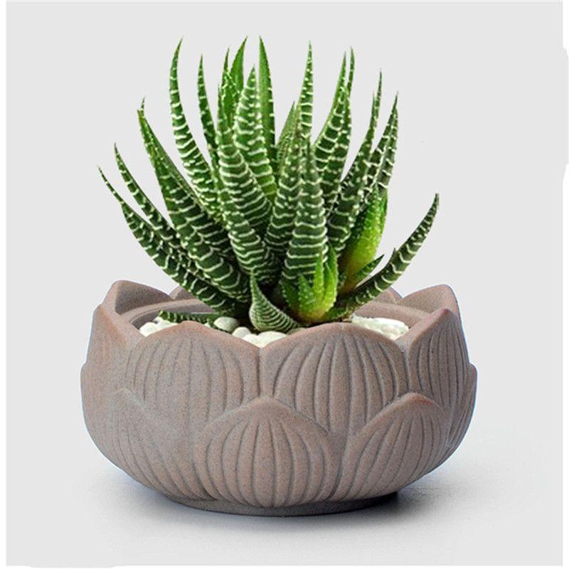 small lotus ceramic garden supplies pottery Mini flower pot planter pots decorative terracotta succulents pots