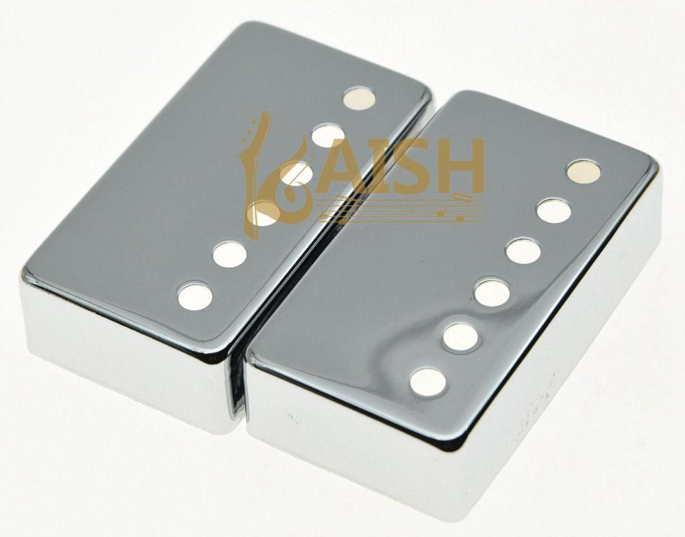 KAISH Set of 2 Metal Humbucker Guitar Pickup Cover Covers Chrome fits LP