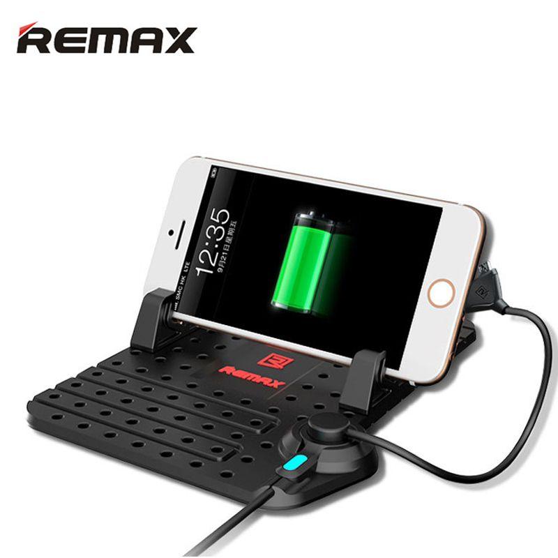 Remax support pour téléphone De Voiture support réglable 2in1 Magnétique Connecteur câble de charge Pour iPhone 5 s 6 S 7 8 plus xiaomi Samsung Monte