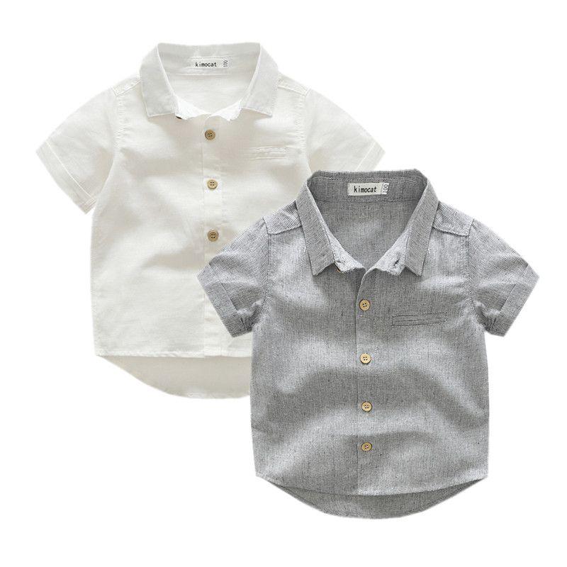 Новая брендовая летняя хлопковая одежда для маленьких мальчиков детская одежда для дошкольников Футболки для девочек серая футболка корот...