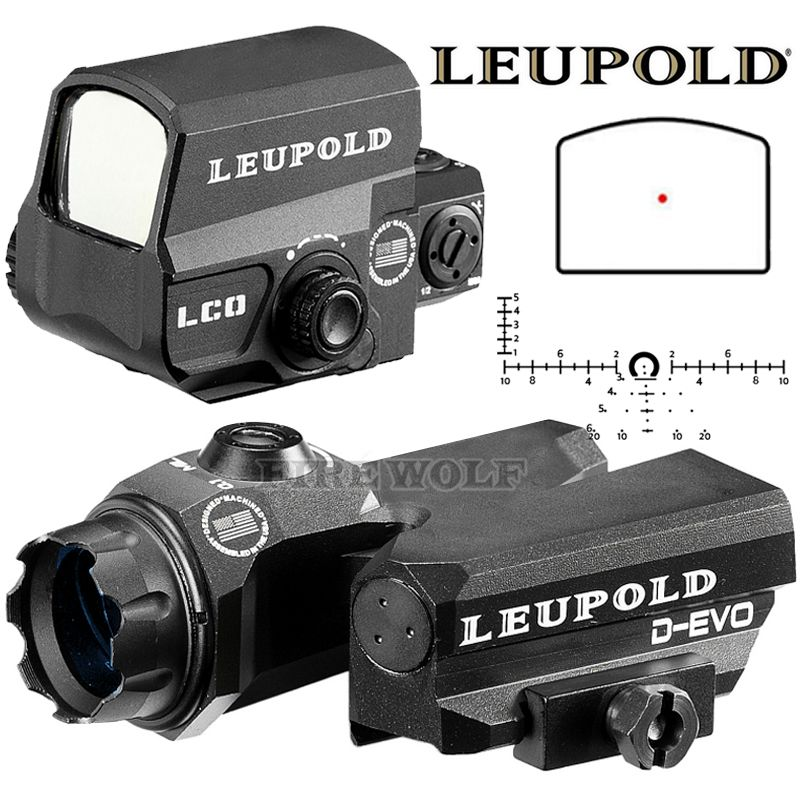 LEUPOLD D-EVO Dual-Enhanced View Optic Reticle Rifle Scope Magnifier With LCO Red Dot Sight Reflex Sight Rifle Sight