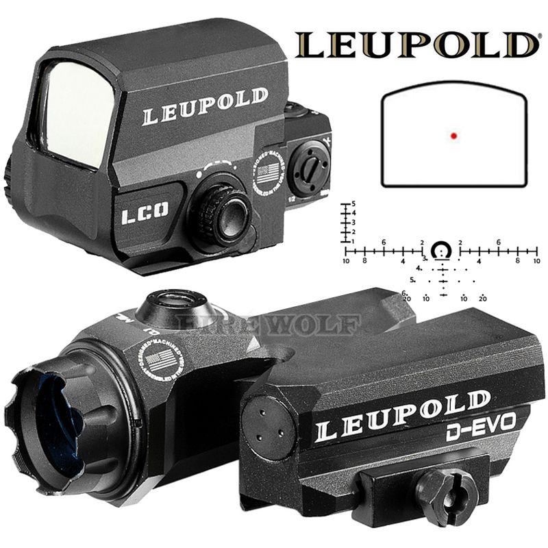 LEUPOLD D-EVO Dual-Verbesserte Ansicht Optic Absehen Zielfernrohr Lupe Mit LCO Red Dot Sight Reflex Anblick Gewehr Anblick