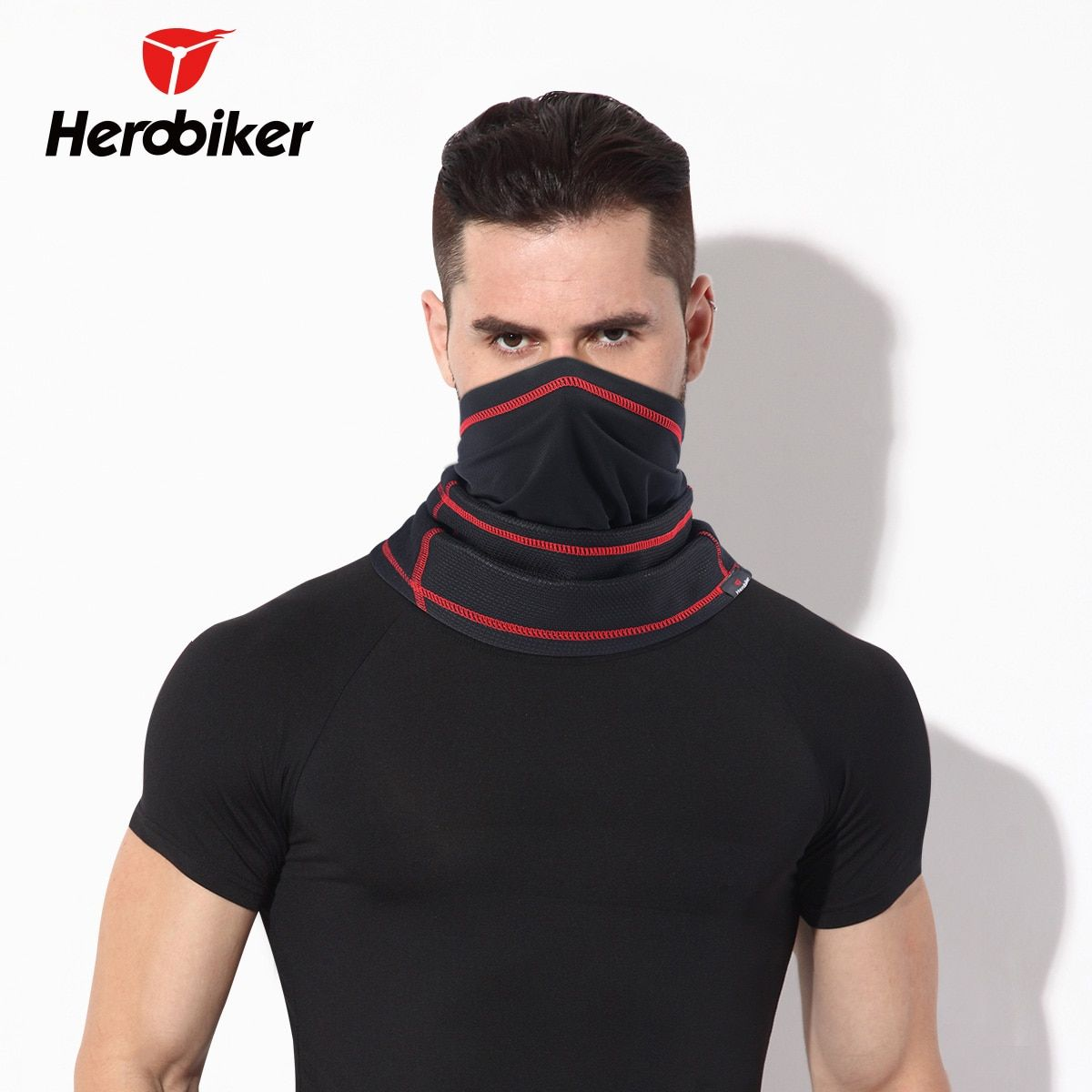 HEROBIKER Motorcycle Face Mask Windproof Keep Warm Motorcycle Ski Mask Winter Protect the Neck Half Face Mask Windproof collar