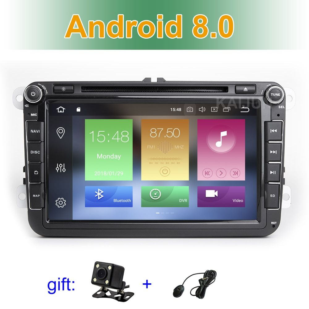 IPS screen Android 8.0 Car DVD Radio Stereo GPS for VW Passat CC Golf 5 6 T5 EOS B5 B6 B7 Jetta Touran Tiguan Multivan