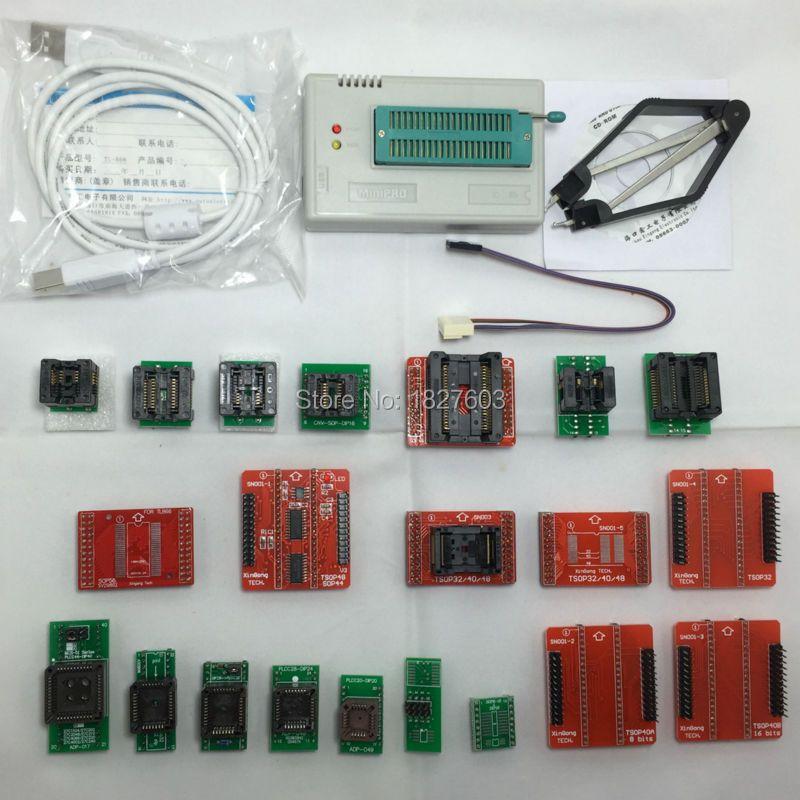 Xgecu 100% натуральная TL866A TL866A TL866 Универсальный MiniPro программист ICSP Поддержка Flash \ EEPROM \ MCU СОП \ PLCC \ TSOP + 21 Адаптеры